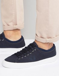 Fred Perry Kendrick Tipped Cuff Jersey Plimsolls Navy