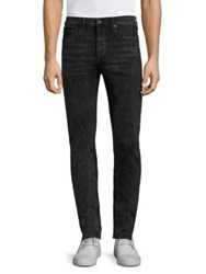 Rag And Bone Slim Fit Cotton Blend Jeans Acid Black