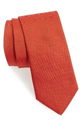 Ted Baker Men's London Solid Woven Silk Tie Brick