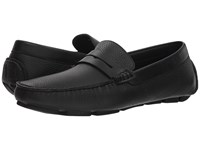 Canali Penny Driver Black Slip On Shoes