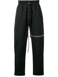 Represent Elasticated Track Trousers Black