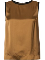 Maison Martin Margiela Satin Tank Top Brown