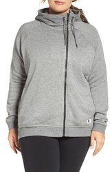 Nike Plus Size Women's Terry Cape Hoodie Carbon Heather Dark Grey