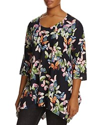 Nally And Millie Plus Butterfly Print Tunic