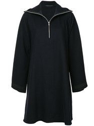 Yohji Yamamoto Vintage High Collar Dress Blue
