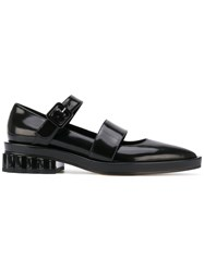 Simone Rocha Pointed Strappy Loafers Black