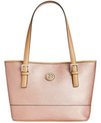 Giani Bernini Saffiano Tote Only At Macy's Rose Gold