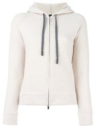 Eleventy Zip Up Cardigan Nude And Neutrals