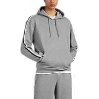 Atm Anthony Thomas Melillo Striped Cotton French Terry Hoodie Gray