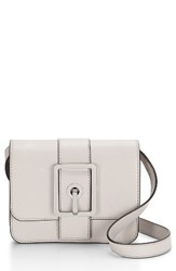 Rebecca Minkoff Small Hook Up Crossbody Bag Beige Putty Silver Hardware