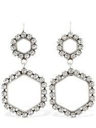 Isabel Marant Here It Is Crystal Earrings Silver