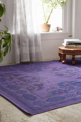 Plum And Bow Anatolian Overdyed Printed Rug Purple