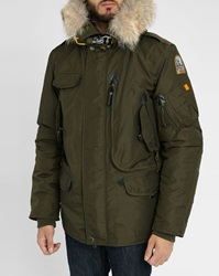 Parajumpers Khaki Right Hand Parka With Removable Fur And Lining