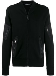 Neil Barrett Zip Detail Cardigan Black