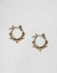 Asos Triangle Spike Hoop Earring Burnished Gold