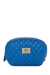 Love Moschino Quilted Cosmetic Pouch Blue