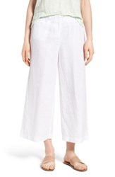 Eileen Fisher Women's Organic Linen Crop Pants White