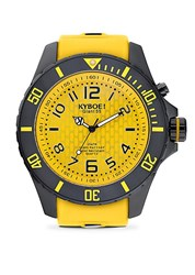 Kyboe Stainless Steel And Silicone Strap Watch Black Yellow