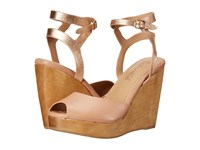 Splendid Danaka Blush Vintage Leather Women's Wedge Shoes Neutral