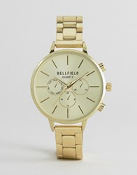 Bellfield Large Dial Watch Gold
