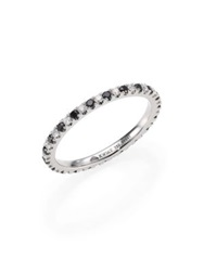 Kwiat Black White Diamond And 18K White Gold Eternity Stacking Ring Black Diamond