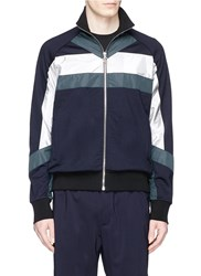 Tim Coppens 'Xtc' Contrast Panel Track Jacket Multi Colour
