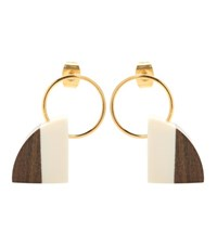Marni Wood Earrings Multicoloured