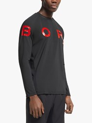 Bjorn Borg Ante Long Sleeve Training Top Black Red