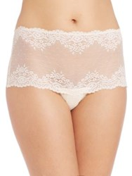 Mimi Holliday High Rise Lace Corset Brief Natural