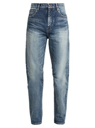 Saint Laurent Straight Leg Boyfriend Jeans Denim