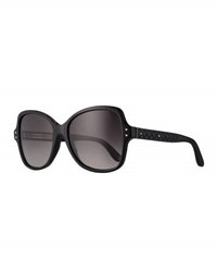 Bottega Veneta Acetate Butterfly Sunglasses Black