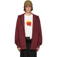 D By D Burgundy Raw Cut Hoodie