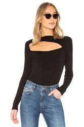 Central Park West Zion Cutout Sweater Black