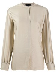 Theory Single Button Tunic Neutrals