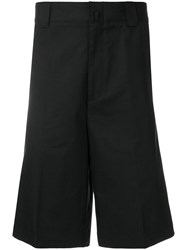Lanvin High Waisted Tailored Shorts Black
