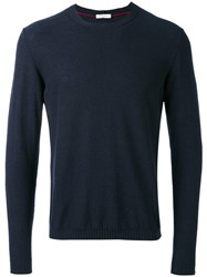 Paolo Pecora Round Neck Jumper Men Cotton Polyamide Xl Blue