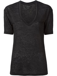 Isabel Marant V Neck T Shirt Black