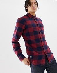 Pull And Bear Pullandbear Flannel Shirt In Red Check