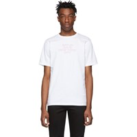 Saturdays Surf Nyc White Outline Logo T Shirt