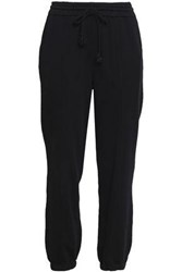 Helmut Lang French Cotton Terry Track Pants Black