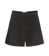 Alexa Chung For Ag The Mabel Suede Shorts Black