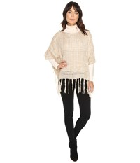 Michael Stars On The Fringe Poncho Chai Women's Clothing Brown