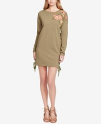 Jessica Simpson Brunetta Embroidered Sweater Dress Sea Turtle