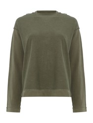 Replay Cotton Hoodie Green