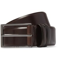 Hugo Boss 3.5Cm Brown Carmello Leather Belt Brown