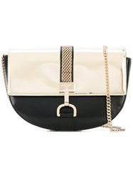 Lanvin Saddle Bag Women Cotton Calf Leather One Size Black