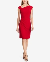 American Living Asymmetrical Jersey Dress Red