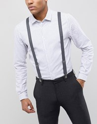 Peter Werth Gray Spot Suspenders Gray