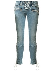 Unravel Project Lace Up Skinny Jeans 60