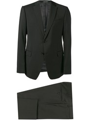 Emporio Armani Slim Single Breasted Suit Black